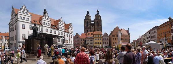 Wittenberg, Stadtfest ''Luthers Hochzeit'' (Foto: M_H.DE, Wikipedia, CC3.0-Lizenz)